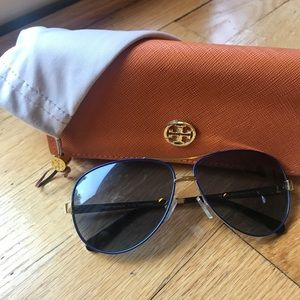 EUC tory burch aviators